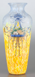 Art Glass:Legras, A LEGRAS ENAMELED GLASS VASE. Circa 1920. Marks: LEGRAS.15-1/4 inches high (38.7 cm). PROVENANCE:. Property from the ...
