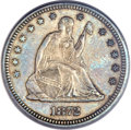Seated Quarters, 1872 25C MS64 PCGS. CAC....