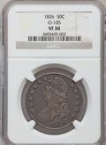 Bust Half Dollars, 1826 50C VF30 NGC. O-105. NGC Census: (43/1435). PCGS Population(58/1700). Mintage: 4,000,000. Numismedia Wsl. Price for p...
