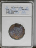 Patterns: , 1854 P1C One Cent, Judd-161 Original, Pollock-187, R.4--Damaged--ANACS. MS60 Details. The designs are similar to the contem...
