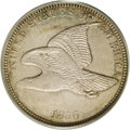 Patterns: , 1856 P1C Flying Eagle Cent, Judd-183, Pollock-217, High R.7, PR61PCGS. Snow-4d. Low Leaves Reverse, Open E in ONE. Struck ...