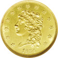 Classic Quarter Eagles: , 1834 $2 1/2 Classic--Cleaned--ANACS. Unc Details, Net MS60. Breen-6138, Small Head, R.2. This is the usually seen Small Hea...