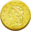 Classic Quarter Eagles: , 1836 $2 1/2 Block 8 MS61 NGC. McCloskey-B, Head of 1834, Breen-6142, R.3. A mildly prooflike Classic gold type coin that be...