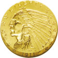 Indian Quarter Eagles: , 1911-D $2 1/2 MS62 NGC. Some examples of this important 20th century gold issue are so poorly impressed that the all-import...