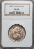 Commemorative Silver, 1921 50C Missouri 2x4 MS65 NGC....
