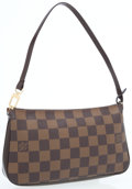 Luxury Accessories:Bags, Louis Vuitton Damier Ebene Canvas Pochette Bag. ...