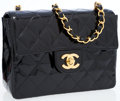 Luxury Accessories:Bags, Chanel Black Quilted Patent Leather Mini Classic Single Flap Bagwith Gold Hardware. ...