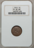 Proof Lincoln Cents: , 1912 1C PR64 Brown NGC. NGC Census: (46/41). PCGS Population (42/55). Mintage: 2,172. Numismedia Wsl. Price for problem fre...