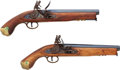 Handguns:Muzzle loading, Lot of Two Japanese Reproduction Flintlock Pistols.... (Total: 2Items)