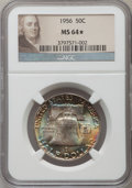 Franklin Half Dollars, (2)1956 50C MS64 ★ NGC. NGC Census: (3121/3777). PCGS Population(2403/2370). Mintage: 4,0... (Total: 2 coins)
