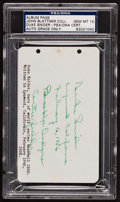 Baseball Collectibles:Others, 1956 Duke Snider Signed Parchment, PSA/DNA Gem Mint 10. ...