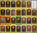 Autographs:Post Cards, Signed Yellow Baseball HoF Plaque Postcard Collection (28). ...