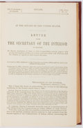 Books:Americana & American History, [Native Americans]. [Certain Contracts Made with Indians].[Washington]: Senate, 1893. Octavo. Maroon cloth with...