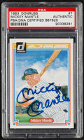 """Autographs:Sports Cards, Signed 1983 Donruss """"Hall of Fame Heroes"""" Mickey Mantle #7 PSA/DNAAuthentic. ..."""