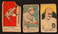 """Baseball Cards:Lots, 1920's """"W' Strip Card Ty Cobb Trio (3) with Undocumented W516Variety. ..."""