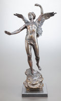 Decorative Arts, French:Other , HORACE DAILLION (French, 1854-1937). Le Triomphe. Bronzewith brown patina. 21-1/2 inches (54.6 cm) high. Inscribed on b...