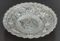Silver Holloware, American:Center Pieces, AN AMERICAN LARGE SILVERED METAL CENTER BOWL. Maker unknown, circa 1900. 4 inches high x 19 inches diameter (10.2 x 48.3 cm)...