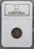 Bust Dimes: , 1821 10C Small Date AU55 NGC. NGC Census: (20/121). PCGS Population (25/88). Mintage: 1,186,512. Numismedia Wsl. Price for ...