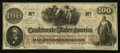 Confederate Notes:1862 Issues, T41 $100 1862 Cr. 318a PF-25.. ...