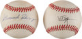 Baseball Collectibles:Balls, Alex Rodriguez (Full Name Signature) and Mark McGwire Single SignedBaseballs Lot of 2....
