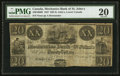 Canadian Currency: , St. John's, LC- The Mechanics Bank of St. John's $20 ND (1837) Remainder Ch. # 440-10-06R. ...