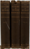 Books:Social Sciences, Edward Westermarck. The History of Human Marriage. London:MacMillan, 1921. Fifth Edition Rewritten. Three Octavo Vo...(Total: 3 Items)
