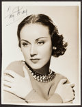 """Movie Posters:Miscellaneous, Fay Wray (MGM, 1935). Autographed Trimmed Portrait Photo (7.75"""" X 10""""). Miscellaneous.. ..."""