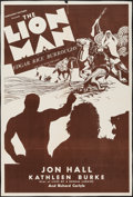 """Movie Posters:Adventure, The Lion Man (Normandy, R-1930s). One Sheet (27"""" X 41"""").Adventure.. ..."""