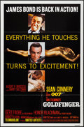 "Movie Posters:James Bond, Goldfinger (United Artists, R-1980). One Sheet (27"" X 41""). JamesBond.. ..."