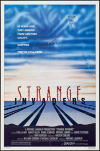 """Strange Invaders & Others Lot (Orion, 1983). One Sheets (5) (27"""" X 41"""") Regular & Style A. Sci..."""