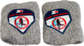 Baseball Collectibles:Others, Ozzie Smith Signed St. Louis Cardinals Sweat Bands....