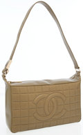 Luxury Accessories:Bags, Chanel Olive Green Quilted Lambskin Leather Shoulder Bag withBrushed Gold Hardware. ...