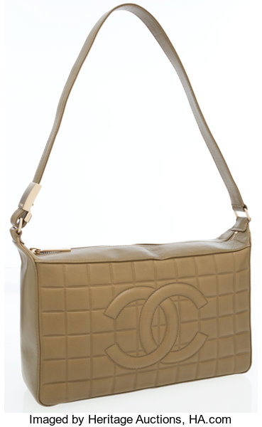 f682f1925cde Chanel Olive Green Quilted Lambskin Leather Shoulder Bag