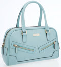 Luxury Accessories:Bags, Gucci Light Blue Microguccissima Leather Bowling Bag . ...
