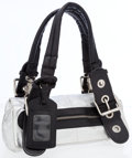 Luxury Accessories:Accessories, Chloe Black & Silver Metallic Leather Shoulder Bag with SilverHardware. ...