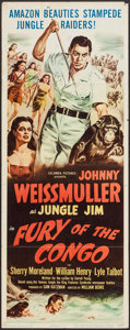 "Movie Posters:Adventure, Fury of the Congo (Columbia, 1951). Insert (14"" X 36""). Adventure....."