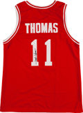 Basketball Collectibles:Uniforms, Isiah Thomas Signed Indiana Hoosiers Jersey....