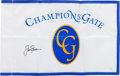 Golf Collectibles:Autographs, Jack Nicklaus Signed Golf Flag....