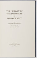Books:Photography, [Photography] Georges Potonniée. The History of the Discovery of Photography. New York: Tennant and Ward, 1936. Octa...