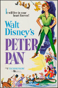 """Movie Posters:Animation, Peter Pan (Buena Vista, R-1970s). One Sheet (27"""" X 41"""") & French Lobby Cards (9) (9.5"""" X 12""""). Animation.. ... (Total: 10 Items)"""