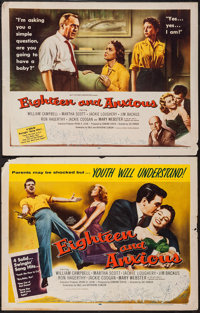 "Eighteen and Anxious (AB-PT Pictures, 1957). Half Sheet (22"" X 28"") Style A & B. Exploitation. ... (To..."