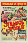 "Movie Posters:Adventure, Strange World (United Artists, 1952). One Sheet (27"" X 41"").Adventure.. ..."