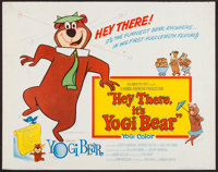 "Hey There, It's Yogi Bear (Columbia, 1964). Half Sheet (22"" X 28""). Animation"