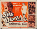 "Movie Posters:Horror, She Devil (20th Century Fox, 1957). Half Sheet (22"" X 28""). Horror.. ..."