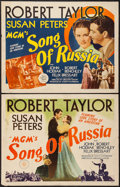 """Movie Posters:War, Song of Russia (MGM, 1944). Half Sheet (22"""" X 28"""") Style A & B.War.. ... (Total: 2 Items)"""