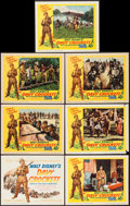 """Movie Posters:Western, Davy Crockett, King of the Wild Frontier (Buena Vista, 1955). Title Lobby Card & Lobby Cards (6) (11"""" X 14""""). Western.. ... (Total: 7 Items)"""