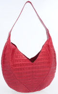 Luxury Accessories:Bags, Nancy Gonzalez Pink Caiman Crocodile Hobo Bag. ...