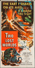 "Movie Posters:Science Fiction, Two Lost Worlds (Pathé, 1951). Three Sheet (41"" X 79""). ScienceFiction.. ..."