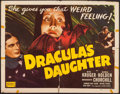 "Movie Posters:Horror, Dracula's Daughter (Realart, R-1949). Half Sheet (22"" X 28"").Horror.. ..."