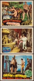 """Movie Posters:Adventure, Tarzan and the Mermaids and Others Lot (RKO, 1948). Lobby Cards (3)(11"""" X 14""""). Adventure.. ... (Total: 3 Items)"""